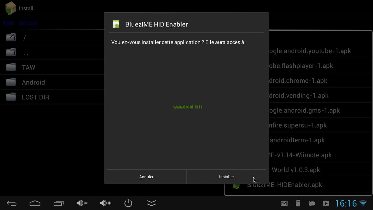 APK installer Bluez IME HID Enabler