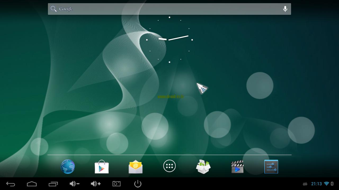 Tableau de bord Android 4.2
