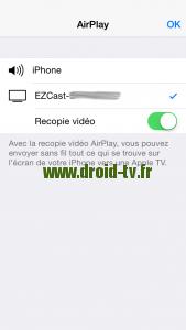 Recopie vidéo EZCast Droid-TV.fr