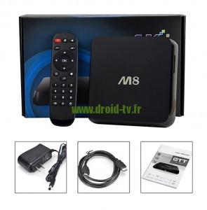 M8 avec boite et contenu Droid-TV.fr
