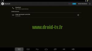 Manette bluetooth IPEGA appareillée box Android M8 Droid-TV.fr