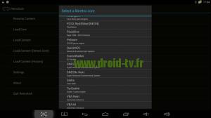 Choix émulateur RetroArch box Android M8 Droid-TV.fr
