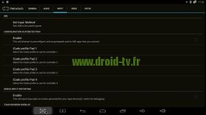 Décocher auto détection RetroArch box Android M8 Droid-TV.fr