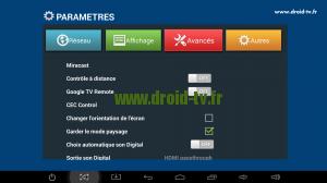 Onglet avancés paramètres box Android M8 Droid-TV.fr