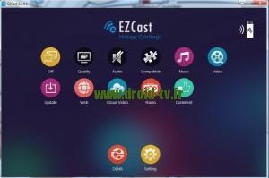 Ecran principal EZcast pour Windows Droid-TV.fr