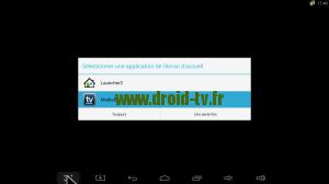 Choix tableau de bord Android Droid-TV.fr