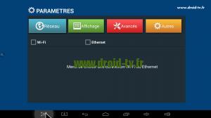 Paramétrage connexion Internet Droid-TV.fr