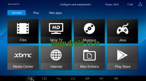 Accueil tableau de bord Android Droid-TV.fr