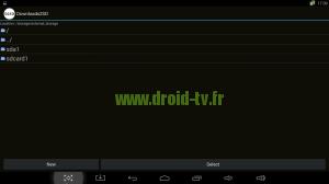 Chemin accès périphérique externe Droid-TV.fr
