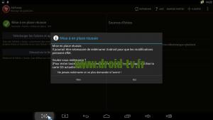 Fin de mise en place Adaway Android Droid-TV.fr