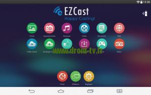 Menu principal EZcast pour Android Droid-TV.fr
