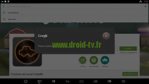 Recherche Play Store avec microphone box Android Beelink Droid-TV.fr