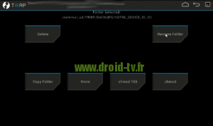 Choix Rename Folder recovery alternatif Droid-TV.fr