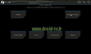 Choix Rename Folder recovery alternatif Droid-TV.fr