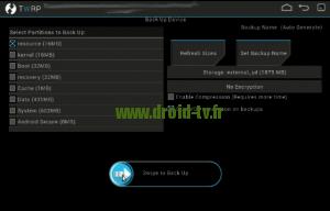 Lancement Backup recovery alternatif Droid-TV.fr