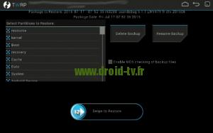 Lancement de la mise a jour recovery alternatif Droid-TV.fr