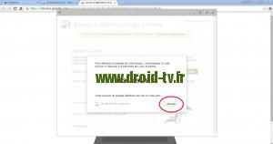 Annulation partage de connexion Chrome Desktop Remote Droid-TV.fr