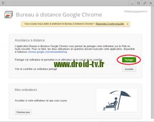 Choix partager Chrome Droid-TV.fr