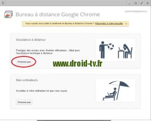 Choix premier pas Chrome Droid-TV.fr