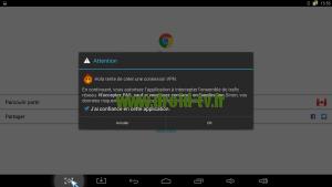 Avertissement Android utilisation VPN Droid-TV.fr