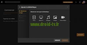 Choix type de contenu Plex Media Server Droid-TV.fr