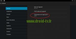Configuration mode TV de Plex pour Android par Droid-TV.fr