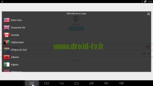 Liste pays Hola VPN gratuit Droid-TV.fr