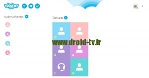Visioconférence avec Skype et la Webcam DTV sur Android
